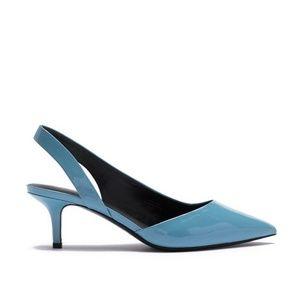 BNWOB Via Spiga patent leather kitten heel